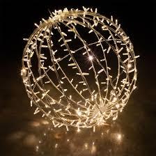 white led commercial mega sphere light fold flat
