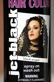 grey hair spray for halloween amazon com spray on wash out black hair color temporary