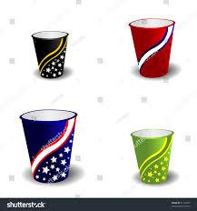 paper coffee cup set design vector stock vector 57161935