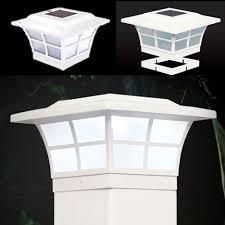 4x4 solar post lights prestige solar post cap light white