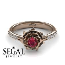simple unique engagement rings unique engagement ring 14k gold 0 25 carat cut ruby