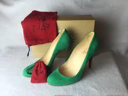women christian louboutin ron ron suede euro 38 5 us 8 5 green