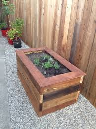 planter bench plans woodworking raised planter box and bench casa de wade