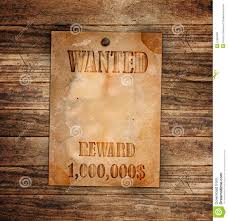 vintage wanted poster on a wood stock photo image 21655000