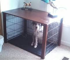 Build Wooden End Table by Best 25 Dog Crate Table Ideas On Pinterest Dog Crate Furniture