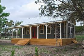 Prefab Guest House With Bathroom by Texas Hill Country Cottage By Kanga Room Systems Small House Bliss