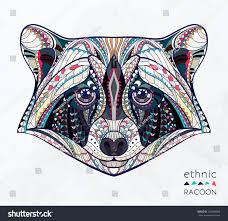 Indian Art Tattoo Designs Ethnic Raccoon African Indian Totem Tattoo Design Stock