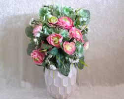 Silk Flower Arrangements For Office - silk flower arrangement with large giraffe patterned dahlia