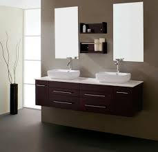 bathroom modern bathroom vanity with two clear glass mirror and