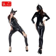 Bomb Halloween Costume Aliexpress Buy Fantasy Catwoman Costume Leather
