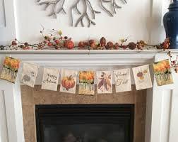 fireplace garland etsy