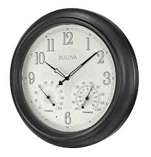 clockway 18in bulova illuminated indoor u0026 outdoor wall clock auto