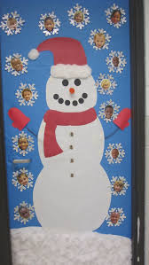 a very cute frosty the snowman classroom door display that