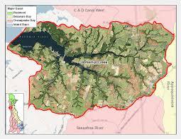 bohemia map bohemia creek delaware watersheds
