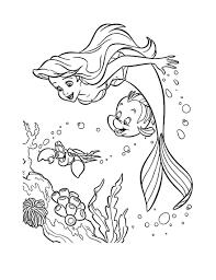 Ariel petite sirene disney 17  Coloriage La petite Sirène Ariel