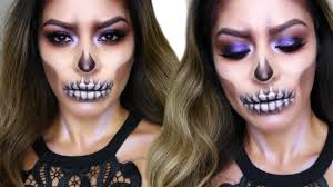 Halloween Skull Face Makeup by Glam Skull Makeup Tutorial Halloween Makeup Youtube