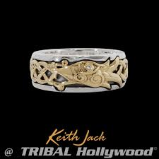 mens sterling rings images Eternal dragon ring sterling silver and gold mens ring by keith jack png