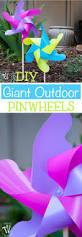 diy giant outdoor pinwheels a houseful of handmade