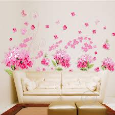 cherry home decor zs sticker television flowers cherry blossom wall sticker pink