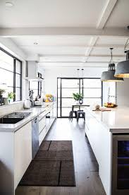 Hanging Cabinet Doors by Kitchen Style Amazing Modern Industrial Kitchen Design With Brick