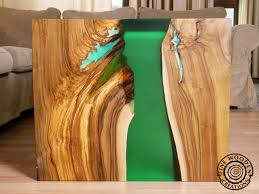 live edge river table epoxy live edge waterfall green river coffee table with transparent leg
