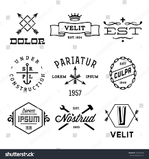 vintage labels anchor crown arrow hammer stock vector 152624426