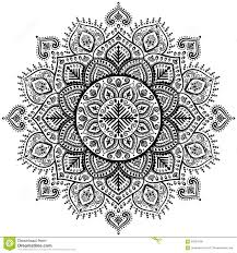 snowflake mandala ornament stock vector image 63564799