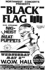 Black Flag Wasted Show Flyers U2013 Black Flag Nig Heist Meat Puppets Eugene