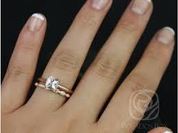 morganite bridal set rosados box albina 6mm gold cushion morganite tulip solitaire