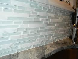 Glass Backsplash Tiles - White glass tile backsplash