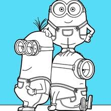 minion coloring pages hellokids