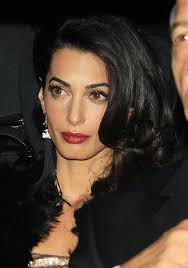 is amal clooney hair one length amal and george clooney headed to their uk wedding reception at