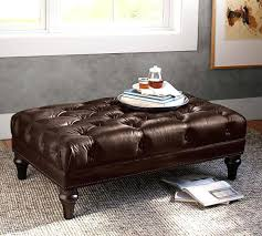 Coffee Table Leather Ottoman Ottoman 31 Archaicawful Tufted Leather Photo Ideas Coffee