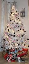 white silver christmas tree christmas lights decoration