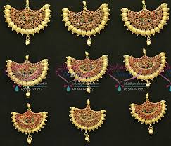south indian bridal hair accessories online h3071 temple jewellery antique gold plated hair decoration hook