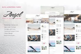 angel creative u0026 elegant blog word blog templates free
