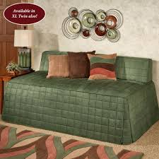 camden deep sage quilted hollywood daybed cover