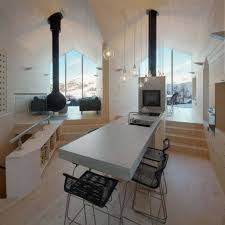 modern kitchen with amazing fireplace design kitchen with wall