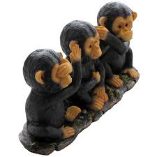 Statues For Home Decor by Amazon Com No Evil Monkeys Figurine For African Jungle Safari