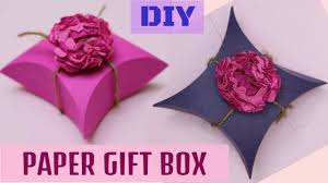 paper gift boxes diamond shaped paper gift box using cd