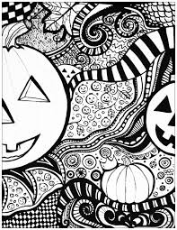 scary halloween coloring pages adults archives free
