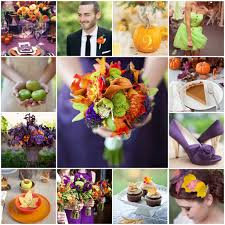 Purple And Orange Color Scheme Fall Orange Plum Green Wedding The Blushing Bride