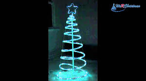 5 ft 3d spiral tree rope light silhouette blue