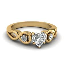 engagement ring gold heart shaped diamond engagement ring in 18k yellow gold