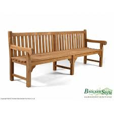 6 seater 8ft teak garden bench