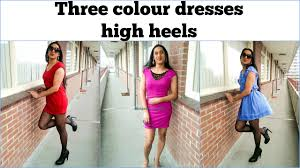how to wear colour dresses purple red and blue outtakes at the