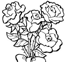 imagenes para colorear rosas dibujo de ramo de rosas para colorear dibujos net