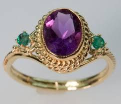emerald amethyst rings images Handmade luis fernando amethyst and emerald ring in gold jpg