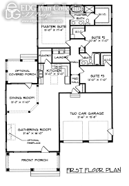 craftsman bungalow floor plans down master edg plan collection
