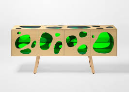cuboid aquario buffet with colored glass inserts digsdigs
